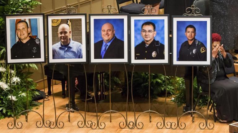 five cops in dallas